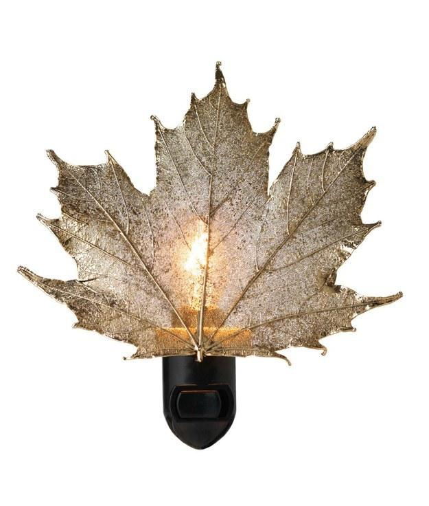 7. And a gold-covered leaf nightlight.  http://www.uncommongoods.com/product/real-sugar-maple-leaf-night-light