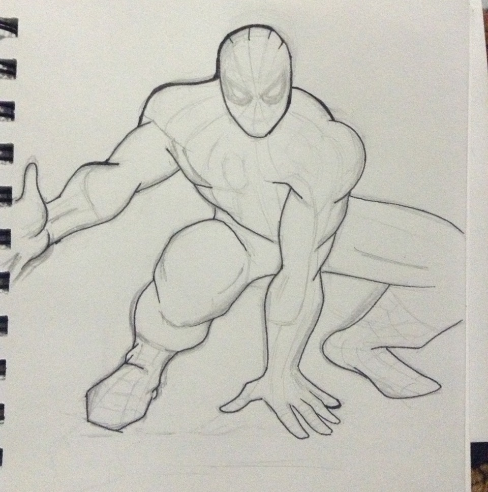 Outline the body with the artist pen of your choosing.