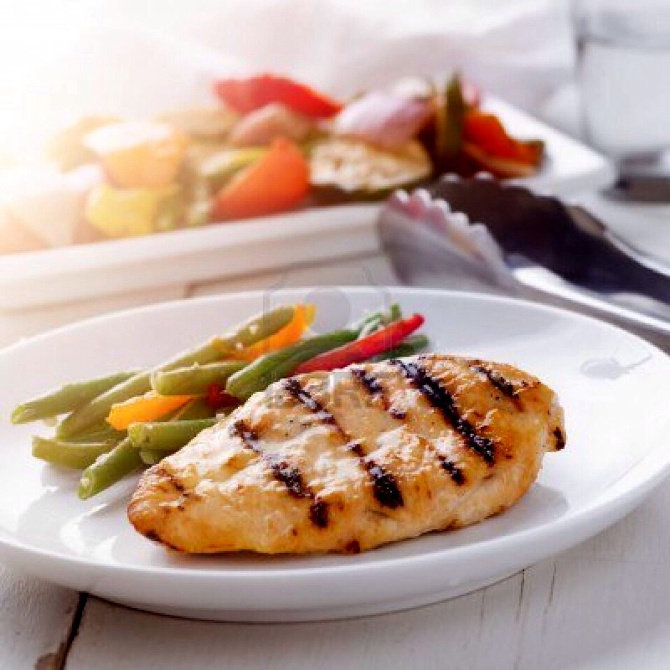 Chicken is the most important food in your diet. Eat at least one serving of chicken each day with some kind of grain and a veggy.
