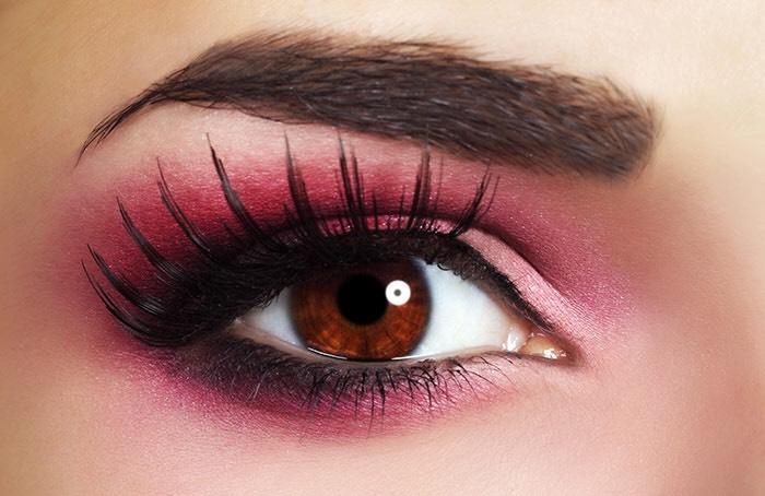 Pink Orange Red Eye Makeup Looks By Sara Roulston Musely