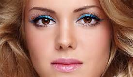 COLORED EYELINER! There are so many ways to do this and so many colors. Some popular ones are purple, green, and blue. Whether adding just a thin line under the eye, applying above regular liner, or lining the whole eye, this is a great way to spice up any makeup.