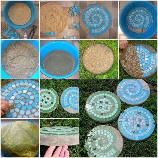 http://www.icreativeideas.com/diy-mosaic-tile-garden-stepping-stones/