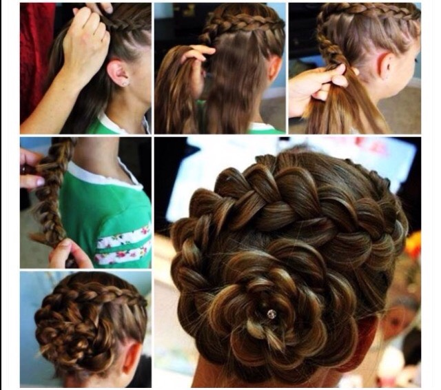 Diy Side Braid Rose Flower Hairstyle Tutorial By ཞaცiყa