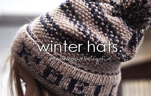 Winter hats are literally a necessity!!💗