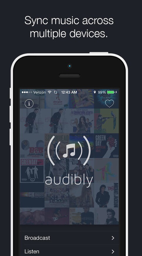 This free app, called audibly, can be  downloaded it from the App Store for iPhones, iPods and iPads :)