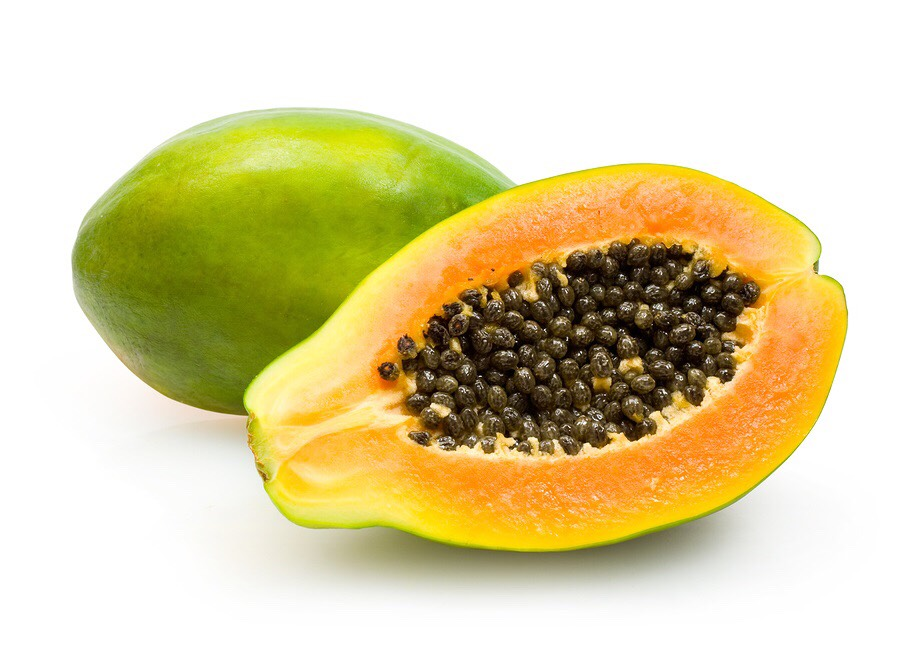 Papaya helps the skin by reducing the aging signs on the face as well as being great for rejuvenating the skin. It's rich in antioxidants and enzymes, which help in getting rid of dead skin cells, creating new fresh cells. This is useful for post inflammatory hyperpigmentation, dark marks from spots