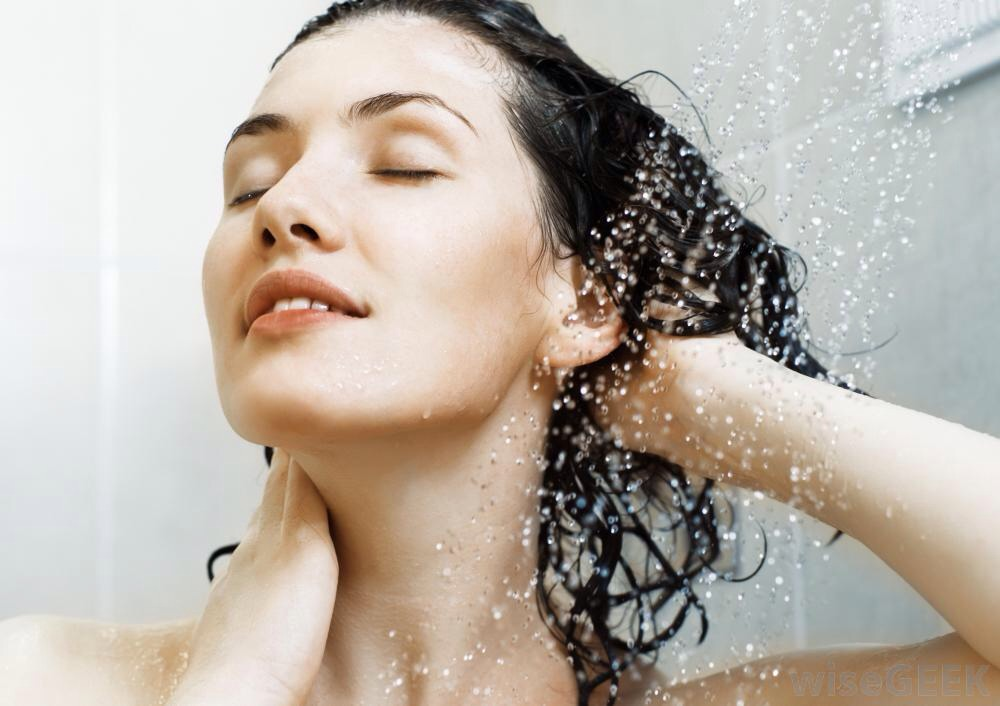 Don't use hot water to rinse your hair out. Use cool water! Hot water dries out your scalp and forces your hair to produce more oils than necessary.