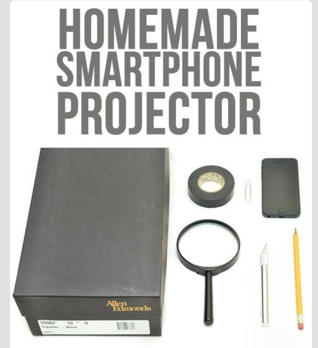 All u need is a shoebox, a magnifying glass, a cutting tool, a paper clip, a tape and a pencil