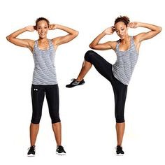 20 standing oblique crunches