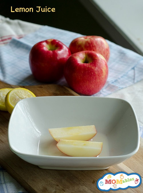 1- putting lemon juice on your apple helps it stay fresh and not all brown and gross 😲