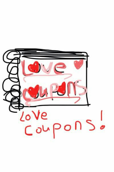 Got your girlfriend/boyfriend upset? Why not make Love Coupons? Coupons for anything, romantic/dates/and maybe a little dirty. 😝 lol  For example, Free hugs, free massages, free kisses. Anything you want.