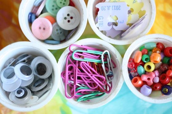 2. Use K-cups to organize small craft items and office supplies