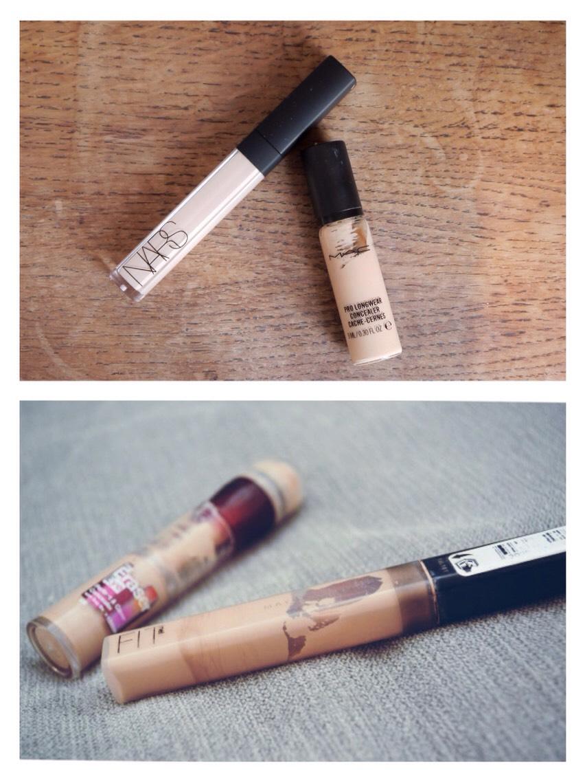 MAC Pro Longwear Concealer vs. Maybelline Dark Circle Eraser  Nars Radiant Creamy Concealer vs. Maybelline Fit Me Concealer