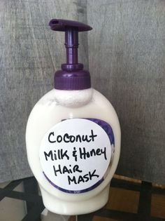 How to make coconut milk and honey hair mask 💁💆