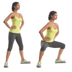 Pilé Squats! They help form the bottom of the booty