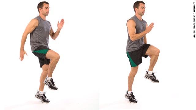 30 second high knees