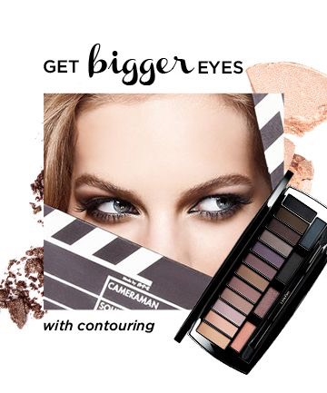 Contouring doesn't just stop at your cheekbones. You can change the shape of your eye, depending on how you apply your eye shadow. Uses the three lightest shades (yes, all three) Then, use the moderately deep shades from the palette and sweeps them onto her lid from the outer corner of her eye.