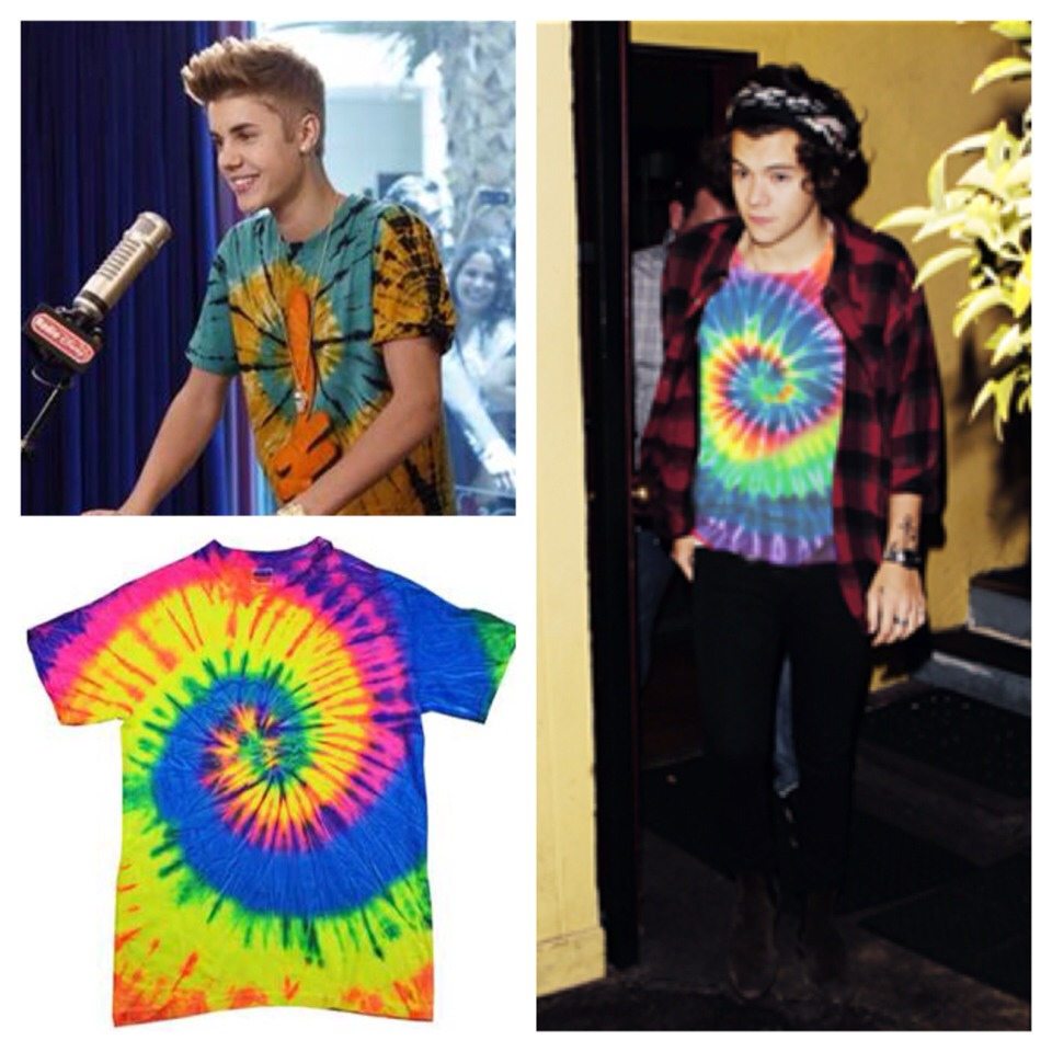 --> Celebs rocking tie dye shirts