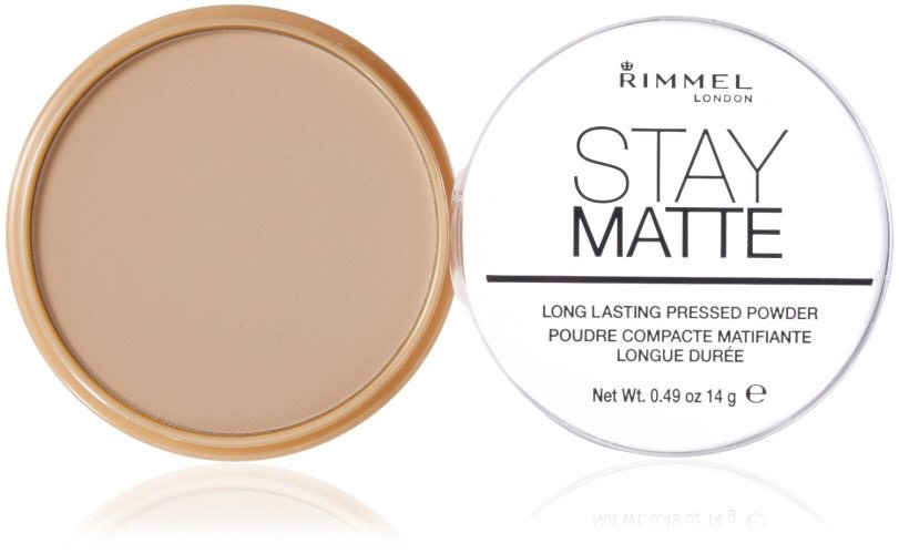 Always use a finishing powder. I love Rimmel Stay Matte Pressed Powder. It goes on smooth and doesn't look caked on