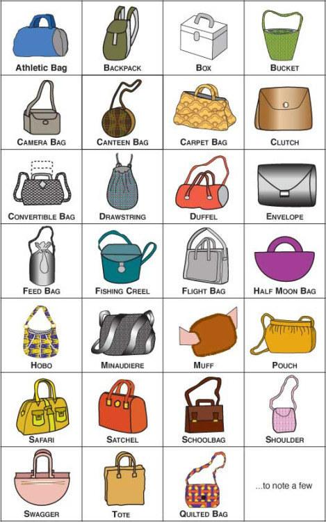 28. Check out this visual glossary of bag styles.
