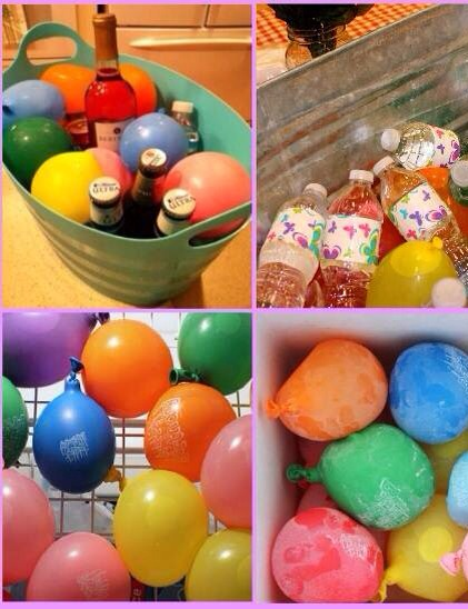 Fill balloons with water (don't make them too big) and freeze them. After this, place them in your box to cool the drinks....And you also can put them back in the freezer to become ice again!