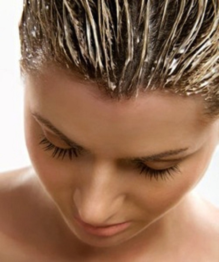 Put a hair mask in your hair every 1-2 weeks