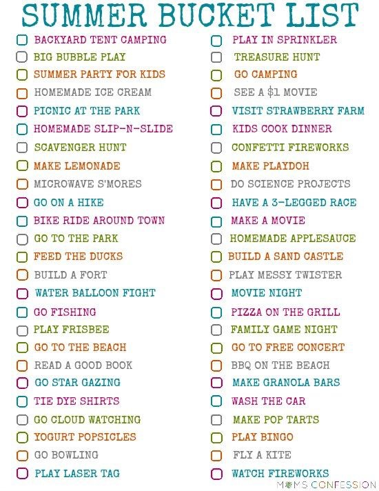 What I want to do this summer what do u want to do