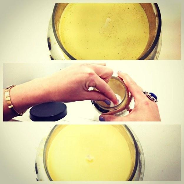 26. Clean dust off candles with a cotton ball and rubbing alcohol.
