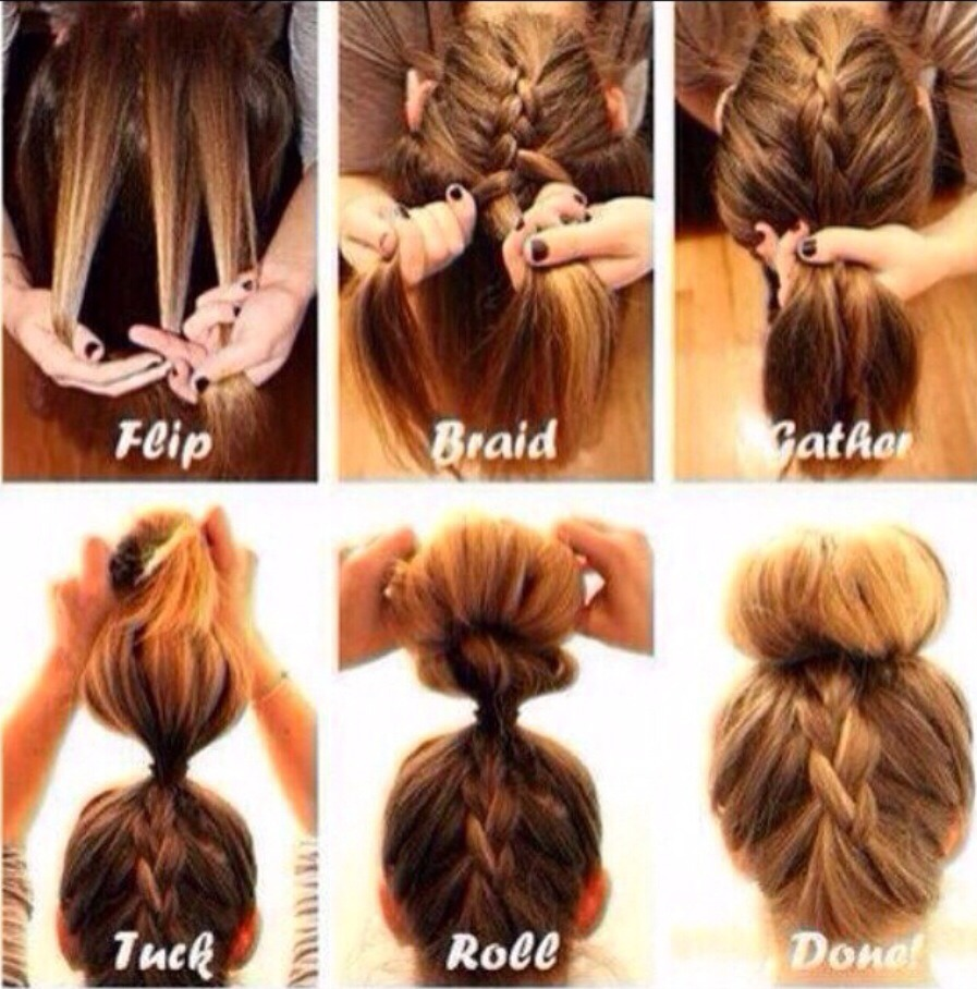 Braided up bun