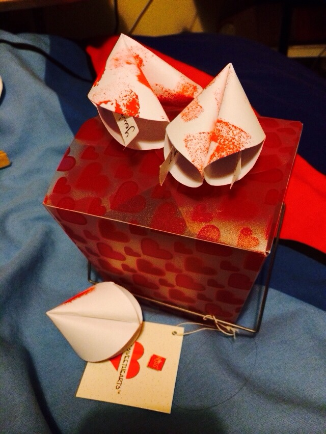 Valentine's Day gift: paper fortune cookies