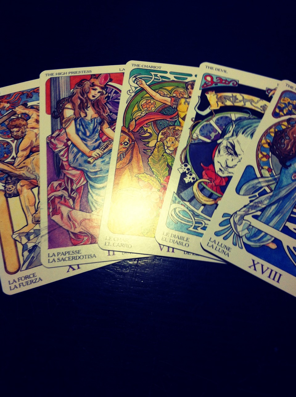 The Major Arcana cards show major lessons to be mastered in life. Physical, emotional, spiritual, intelectual...