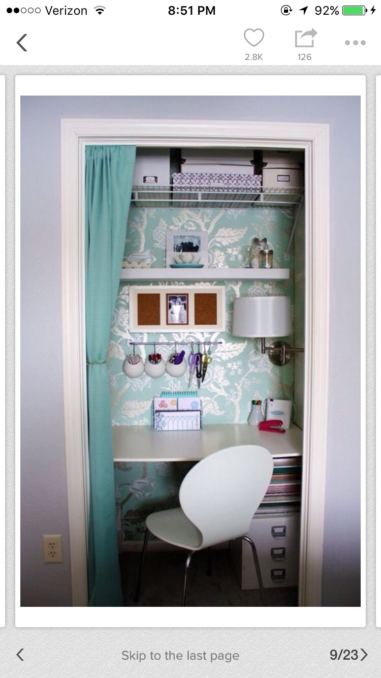 Put your closet in your extra or unused closer to crest a ton of space also add wallpaper or paint your closet to make it pop