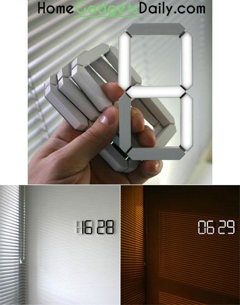 The Black & White Digital Clock Link: http://homegadgetsdaily.com/the-black-white-digital-clock/