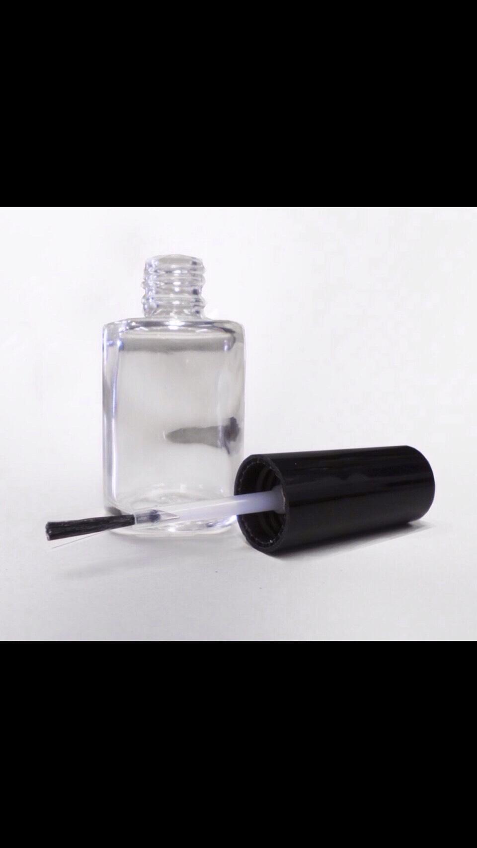 Empty nail polish bottle