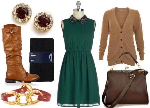 Jewelled Collar Dress: Day