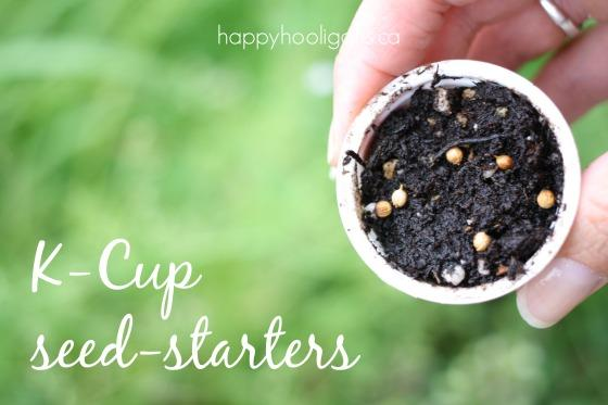6. Use your k-cups as seed-starters for the garden.