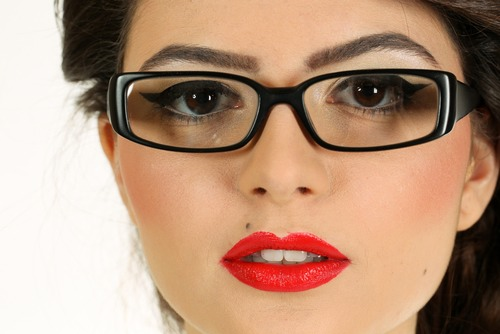 For a night out put on a bold lip and a smokey eye