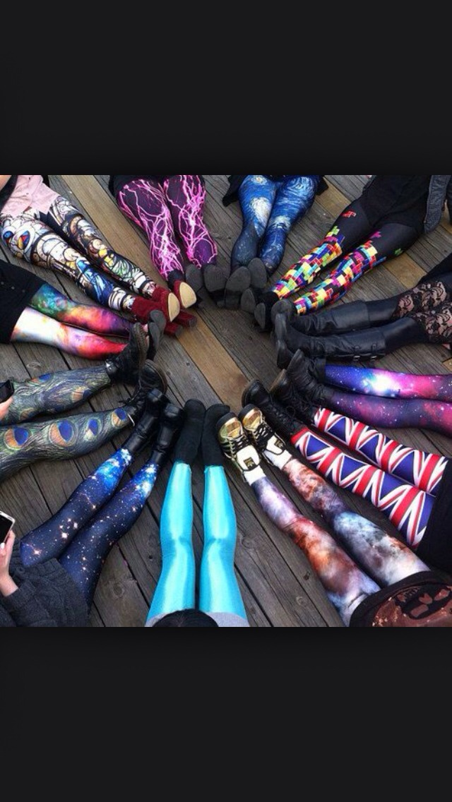 Wear colourful LEGGINGS/TIGHTS