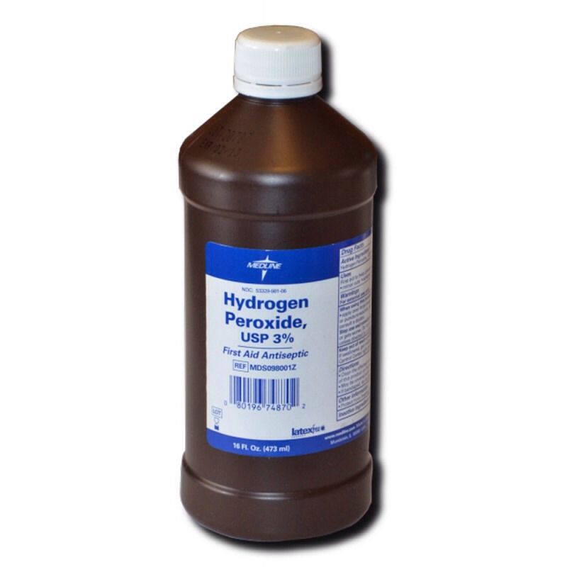 Swish hydrogen peroxide in mouth for about 30 seconds to easily whiten teeth.