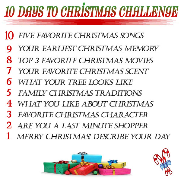 Christmas Challenge.10 Days To Christmas Challenge By Georgette Musely