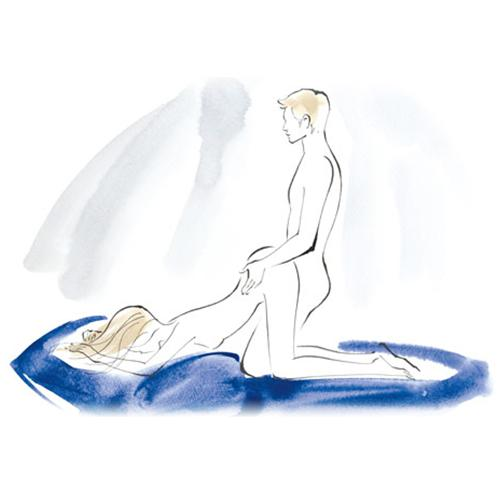 Leap Frog How This is a modified doggy-style. Get on your hands and knees, then, keeping hips raised, rest your head and arms on the bed.  Benefit Creates deeper penetration—and gives you a chance to rest on a pillow.  Bonus Use your hands to stimulate your clitoris.