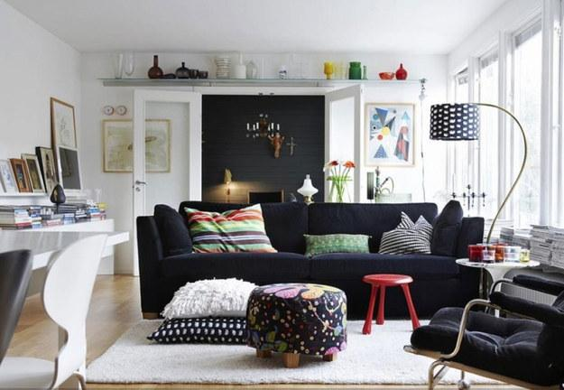 Use light colors on the walls and the floor. While darker colors make a room seem cozy, they also absorb light instead of reflecting it, making the space feel smaller.