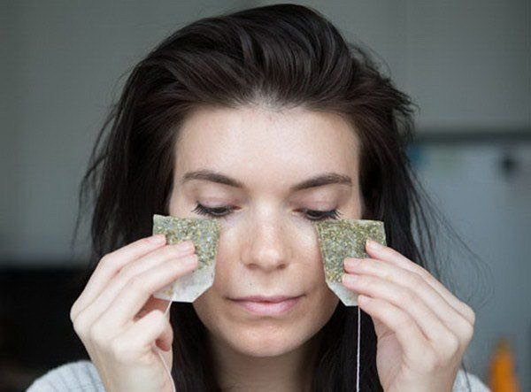 8.Tea Bags: It may sounds strange when recommending tea bags as one of the remedy for how to get rid of dark circles under eyes. • The tannin in the tea bags can helps to reduces swelling & discoloration. • Lie down and place the cool caffeinated tea bags over the closed eyes for at least 10 to 15 minutes. • It is preferable to do this in the morning. You can refrigerate the tea bags overnight to use in the morning.