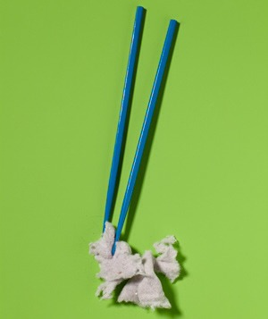 Lint Remover Use chop sticks to get at that pesky lint stuck in the dryer trap.