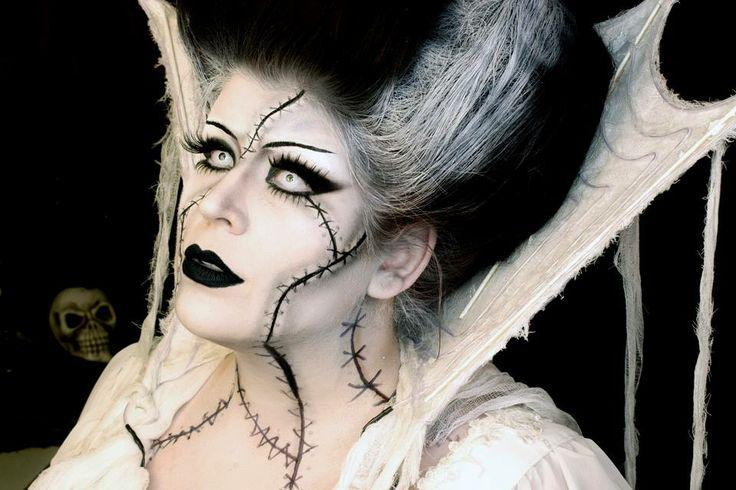 Hello i this is a youtuber called Goldiestarling. She is amazing at doing theatrical , fx make up. Amazing you should check out her channel because you can get lots of halloween ideas of her.