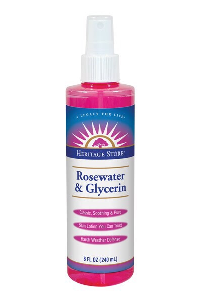 Rose Water and glycerin is a really softening rince for your skin. It's also a really good way to skin moisture in your skin. 🌹