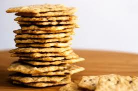 Whole-Grain Crackers If you tend to nosh on chips before bed, try a serving of 100% whole-grain crackers instead. Not only are they high in carbs, but they're also a good source of vitamin B, which may help prevent insomnia, according to some studies.