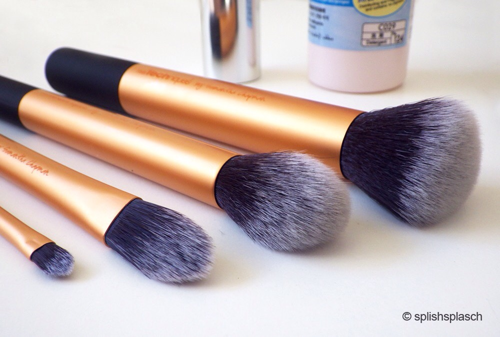These brushes are soft, compact, and probably the nicest quality brushes you'll find at the drugstore. No shedding!