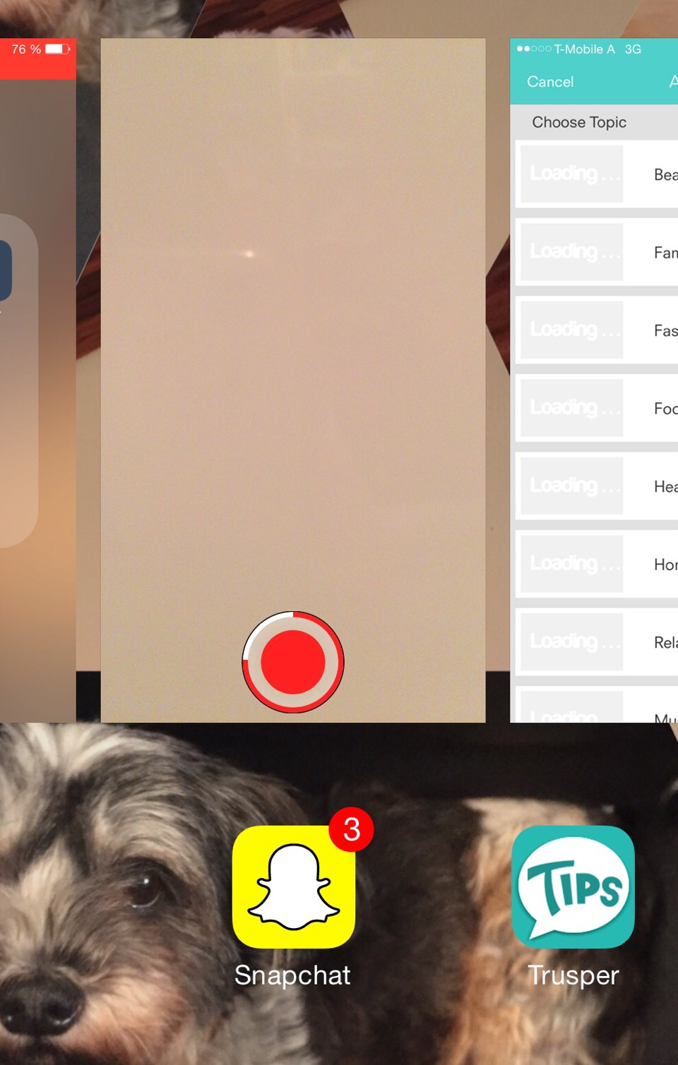 Double tap the Home Button. Your video still runs.