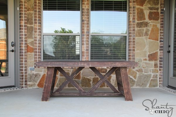8. Rustic outdoor table